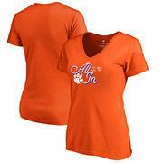 Clemson Tigers Fanatics Branded Women's College Football Playoff 2018 Sugar Bowl Bound End Zone Slim Fit V-Neck T-Shirt – Orange