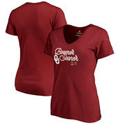 Oklahoma Sooners Fanatics Branded Women's College Football Playoff 2018 Rose Bowl Bound End Zone Slim Fit V-Neck T-Shirt – Crims