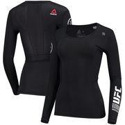 UFC Reebok Women's Training Compression Long Sleeve T-Shirt – Black