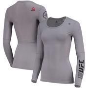 UFC Reebok Women's Training Compression Long Sleeve T-Shirt – Gray