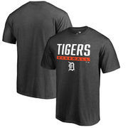 Detroit Tigers Fanatics Branded Big & Tall Win Stripe T-Shirt – Charcoal