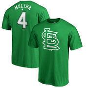 Yadier Molina St. Louis Cardinals Fanatics Branded St. Patrick's Day Backer T-Shirt - Kelly Green