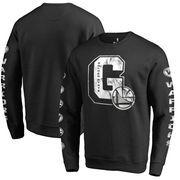 Golden State Warriors Fanatics Branded Letterman Fleece Crew Neck Sweatshirt - Black