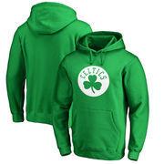 Boston Celtics Fanatics Branded St. Patrick's Day White Team Logo Pullover Hoodie – Kelly Green