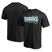 San Jose Sharks Fanatics Branded Iconic Collection On Side Stripe Big and Tall T-Shirt - Black