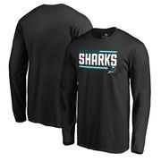 San Jose Sharks Fanatics Branded Iconic Collection On Side Stripe Big and Tall Long Sleeve T-Shirt - Black