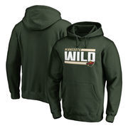 Minnesota Wild Fanatics Branded Iconic Collection On Side Stripe Pullover Hoodie - Green