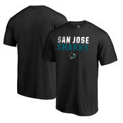 San Jose Sharks Fanatics Branded Iconic Collection Fade Out T-Shirt - Black