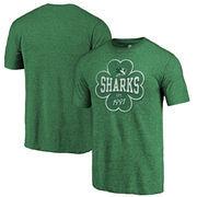 San Jose Sharks Fanatics Branded St. Patrick's Day Emerald Isle Tri-Blend T-Shirt - Green