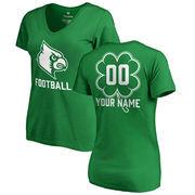 Louisville Cardinals Fanatics Branded Women's Personalized Dubliner V-Neck T-Shirt - Kelly Green