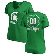 Michigan State Spartans Fanatics Branded Women's Personalized Dubliner V-Neck T-Shirt - Kelly Green
