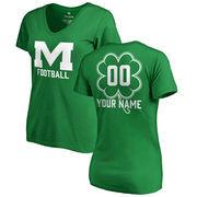 Mississippi State Bulldogs Fanatics Branded Women's Personalized Dubliner V-Neck T-Shirt - Kelly Green