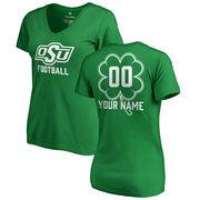Oklahoma State Cowboys Fanatics Branded Women's Personalized Dubliner V-Neck T-Shirt - Kelly Green