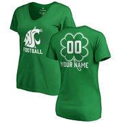Washington State Cougars Fanatics Branded Women's Personalized Dubliner V-Neck T-Shirt - Kelly Green