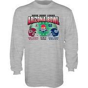 New Mexico State Aggies vs. Utah State Aggies 2017 Arizona Bowl Dueling Long Sleeve T-Shirt – Gray