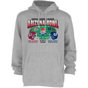 New Mexico State Aggies vs. Utah State Aggies 2017 Arizona Bowl Dueling Pullover Hoodie – Gray