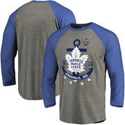 Toronto Maple Leafs Fanatics Branded 2018 NHL Stadium Series Anchor Raglan 3/4-Sleeve T-Shirt -   Heathered Gray/Blue
