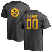 Pittsburgh Steelers NFL Pro Line by Fanatics Branded Youth Personalized One Color T-Shirt - Ash