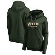 Minnesota Wild Fanatics Branded Women's Iconic Collection Script Assist Plus Size Pullover Hoodie - Green