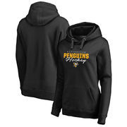 Pittsburgh Penguins Fanatics Branded Women's Iconic Collection Script Assist Plus Size Pullover Hoodie - Black