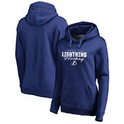 Tampa Bay Lightning Fanatics Branded Women's Iconic Collection Script Assist Plus Size Pullover Hoodie - Blue