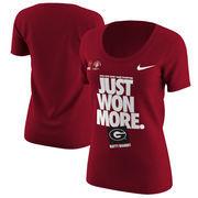 Georgia Bulldogs Nike Women's College Football Playoff 2018 Rose Bowl Champions Locker Room T-Shirt – Red