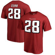 Warrick Dunn Atlanta Falcons NFL Pro Line by Fanatics Branded Retired Player Authentic Stack Name & Number T-Shirt – Red
