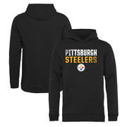 Pittsburgh Steelers NFL Pro Line by Fanatics Branded Youth Iconic Collection Fade Out Pullover Hoodie - Black