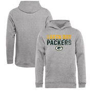 Green Bay Packers NFL Pro Line by Fanatics Branded Youth Iconic Collection Fade Out Pullover Hoodie - Ash