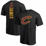 LeBron James Cleveland Cavaliers Fanatics Branded Backer Name & Number T-Shirt – Black