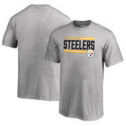Pittsburgh Steelers NFL Pro Line by Fanatics Branded Youth Iconic Collection On Side Stripe T-Shirt - Ash