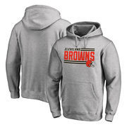 Cleveland Browns NFL Pro Line by Fanatics Branded Iconic Collection On Side Stripe Big & Tall Pullover Hoodie - Ash