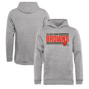 Cleveland Browns NFL Pro Line by Fanatics Branded Youth Iconic Collection On Side Stripe Pullover Hoodie - Ash