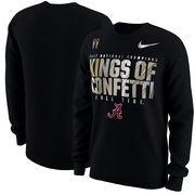 Alabama Crimson Tide Nike College Football Playoff 2017 National Champions Locker Room Long Sleeve T-Shirt – Black