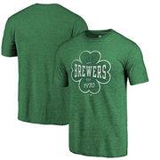 Milwaukee Brewers Fanatics Branded Emerald Isle Tri-Blend T-Shirt - Green