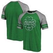Oakland Athletics Fanatics Branded St. Patrick's Day Emerald Isle Refresh Raglan T-Shirt - Kelly Green