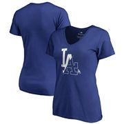Los Angeles Dodgers Fanatics Branded Women's X-Ray V-Neck T-Shirt - Royal