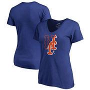 New York Mets Fanatics Branded Women's X-Ray V-Neck T-Shirt - Royal