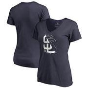 San Diego Padres Fanatics Branded Women's X-Ray V-Neck T-Shirt - Navy