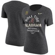 Alabama Crimson Tide Nike Women's College Football Playoff 2017 National Champions Celebration T-Shirt – Charcoal