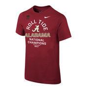 Alabama Crimson Tide Nike Youth College Football Playoff 2017 National Champions Celebration T-Shirt – Crimson