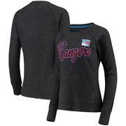 New York Rangers G-III 4Her by Carl Banks Women's Off Season Pullover Crew Neck Sweatshirt - Charcoal