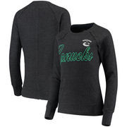 Vancouver Canucks G-III 4Her by Carl Banks Women's Off Season Pullover Crew Neck Sweatshirt - Charcoal