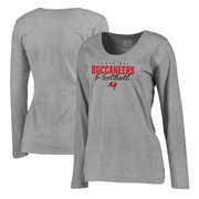 Tampa Bay Buccaneers NFL Pro Line by Fanatics Branded Women's Iconic Collection Script Assist Plus Size Long Sleeve T-Shirt - As