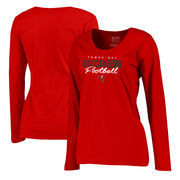 Tampa Bay Buccaneers NFL Pro Line by Fanatics Branded Women's Iconic Collection Script Assist Plus Size Long Sleeve T-Shirt - Re