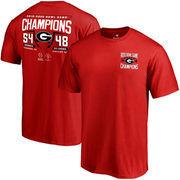 Georgia Bulldogs Fanatics Branded College Football Playoff 2018 Rose Bowl Champions Fullback Score T-Shirt – Red
