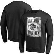 Golden State Warriors Fanatics Branded Court Vision Crew Sweatshirt - Black