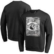 Minnesota Timberwolves Fanatics Branded Court Vision Crew Sweatshirt - Black