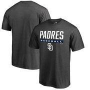 San Diego Padres Fanatics Branded Win Stripe T-Shirt - Ash