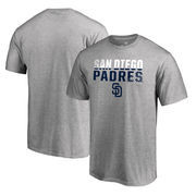 San Diego Padres Fanatics Branded Fade Out Big and Tall T-Shirt - Ash